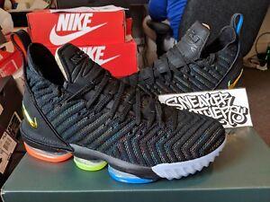 f663ef5fa5a Nike LeBron XVI 16 We are Family I Promise Black Multi-color AO2588 ...