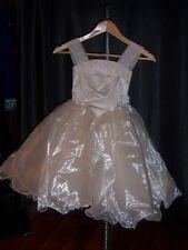 Flower Girl dress satin with petticoat crinoline Cafe  Sz 3 Sweetie Pie NWT