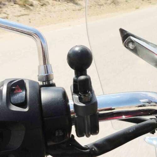 Ram Mounts RAM-B-231ZU Motocicleta revestido de zinc base de perno en U con bola de 1 pulgadas
