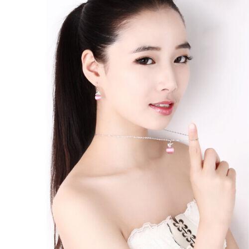 1 Pcs Women Lady Jewelry Silver Necklace with Opal Pendant Jewelry H TxRASK