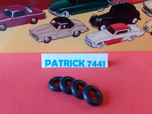 Lot de 4 Pneus 15//8 Noir pour Dinky toys PEUGEOT 404 REF 553