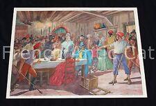 U903 Affiche scolaire fête de la FEDERATION fuite du ROI à VARENNES poster ecole