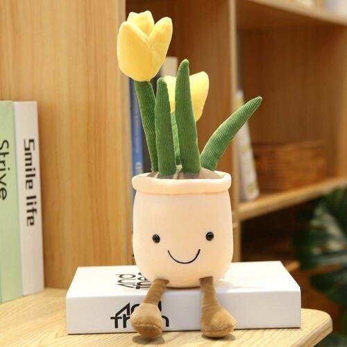 Lebensechte Tulpe Sukkulenten Plüsch Gefüllte Dekoration Spielzeug Dekor Puppe