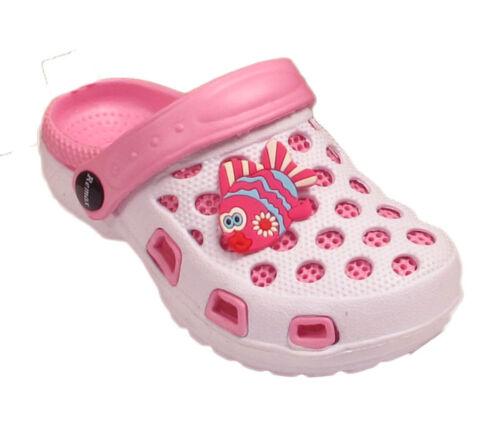 Nourrissons Enfants Filles Garçons Plage Mules Été Piscine Clogs Sandales Tongs Chaussures