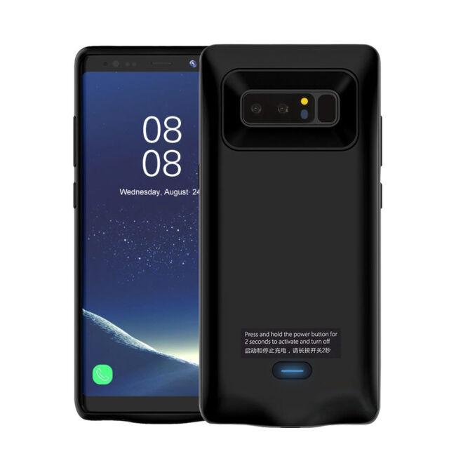 Coque Chargeur Batterie Externe Housse pour Samsung Galaxy Note 8 5500mAh Noir
