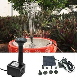 Image Is Loading Solar Panel Ed Water Feature Pump Garden Pool