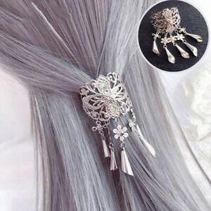 Vintage-Metal-Alloy-Tassel-Hair-Clip-Hairpin-Women-Barette-Jewelry-Accessories