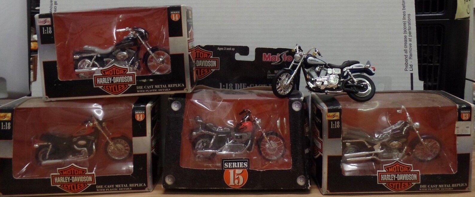 Harley Davidson 1 18 Escala Maisto Die-cast Harley Davidsons Lote de 5 060418DBT