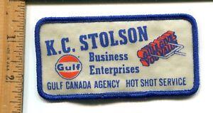 Details about K S  STOLEN GULF CANADA FARM EQUIPMENT HOT SHOT SERVICE  HAT/JACKET PATCH VTG