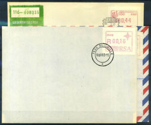 Sudafrica-1986-88-Busta-100-Automatici-BELLVILLE-JOHANNESBURG