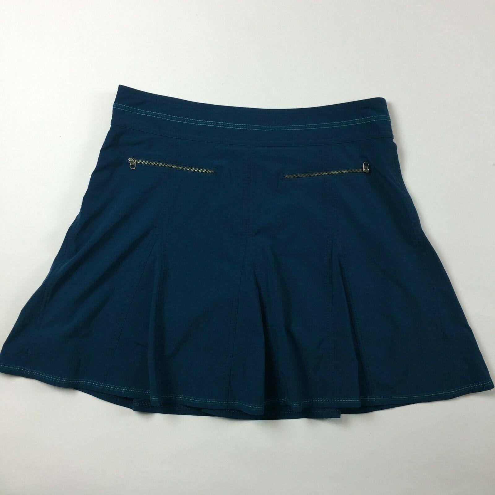 Title Nine Women's Skort 6 Small Activewear UPF 50 Stretch Blue Athletic DD6