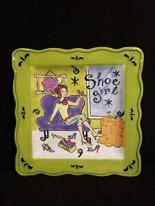 Jennifer-Brinley-Square-Decor-Plate-Shoe-Girl-By-Certified-International-9-034