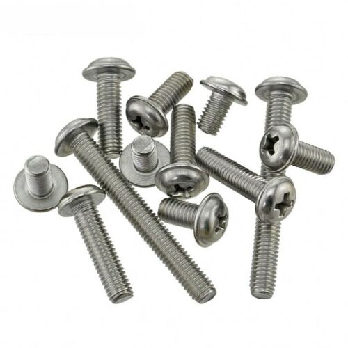 M3 M4 M5 304 A2 Stainless Flanged Button Head Round Washer Head Phillips Screws