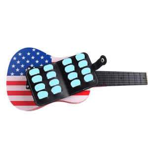 16pcs-PU-Guitar-Black-picks-bag-Package-Holder-Bass-Ukulele-guitar-accessoriesBB