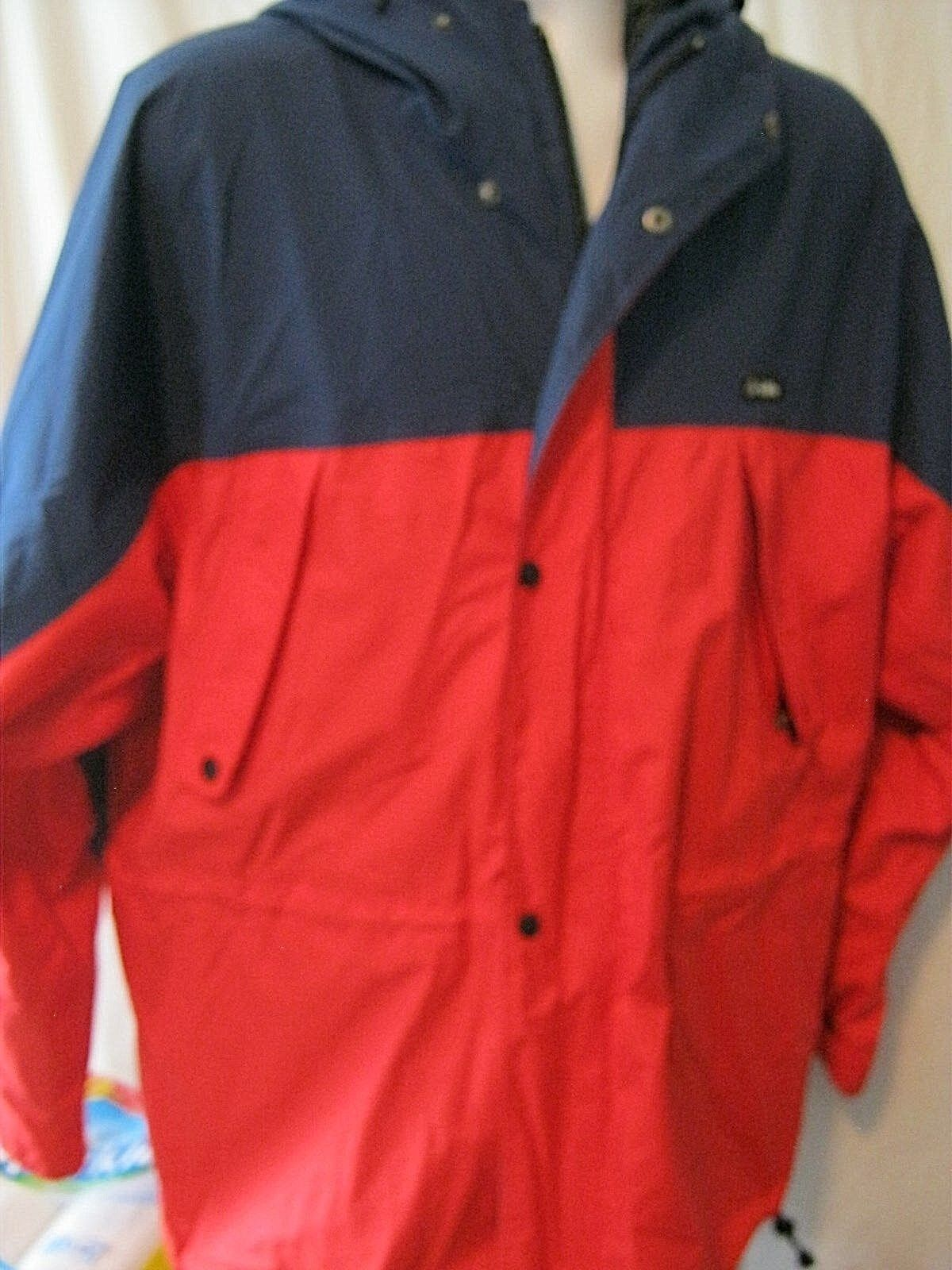 GERRY TÉLI JACKET MENS XL RED / BLUE WITH HOOD Nagyon szép !!!J9