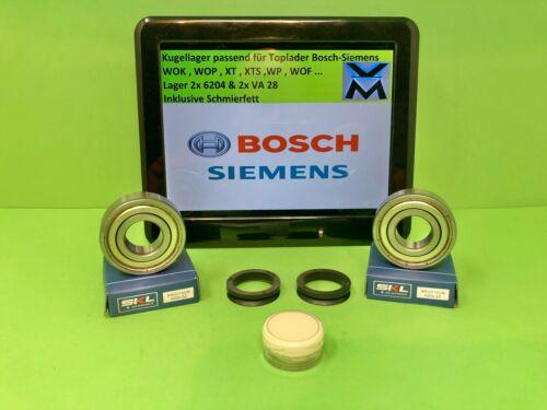 Lagersatz Kugellager 6204 Wellendichtung V28  Bosch WOF WOK WOL Siemens WP XT