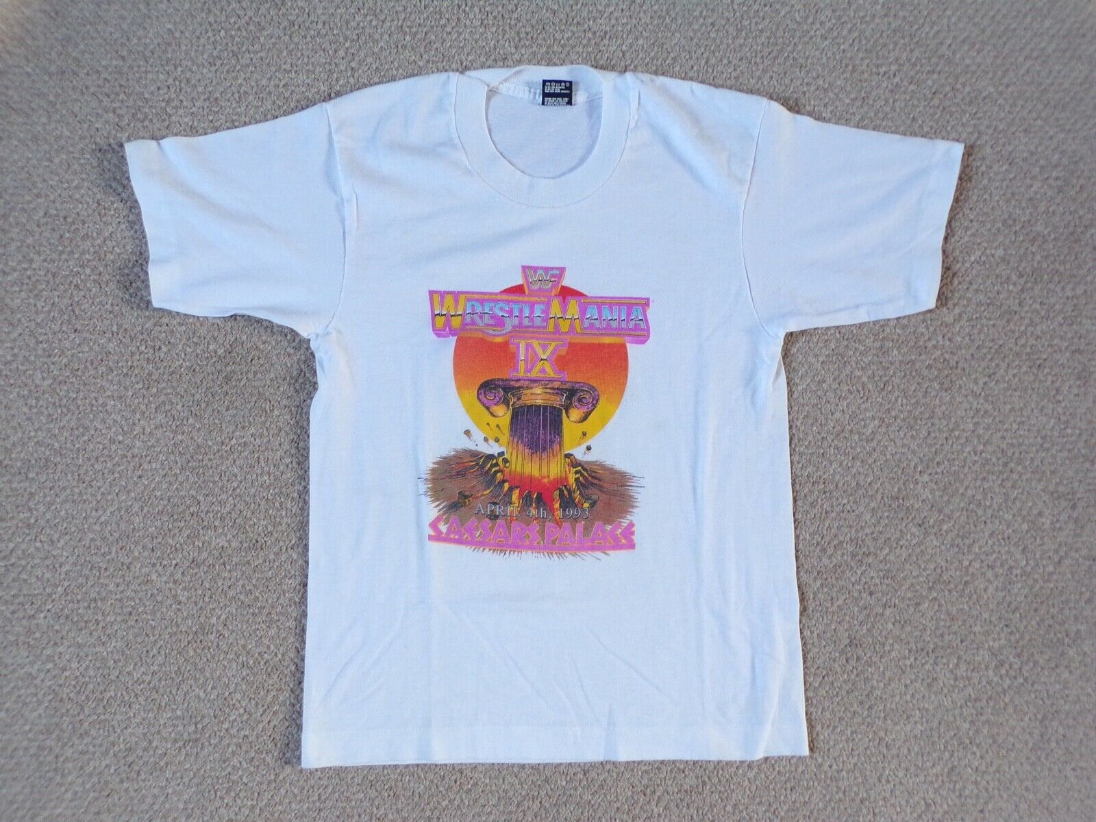 VINTAGE 1993 WWF WRESTLEuomoIA IX Bambino T-Shirt Retrò WRESTLING cimeli WWE