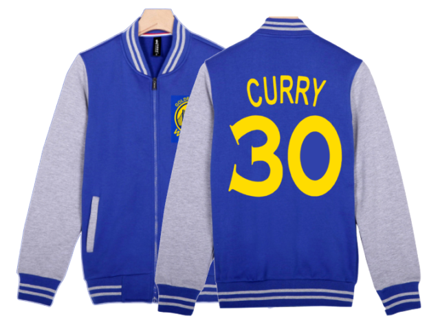 best service 4336c f1507 STEPHEN CURRY #30 - KIDS YOUTH BOYS ZIP BASEBALL JACKET GOLDEN STATE, SZ  S-XL