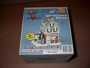 RARE California Creations No. SE 149 Christmas Shop ~ Ready to Paint ~ NIB