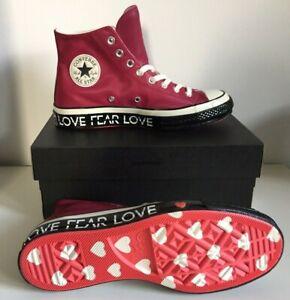 Converse LOVE AMORE CUORE bordeaux rosso ALM 70s High TG 40 size dove 9 UK Men's 7