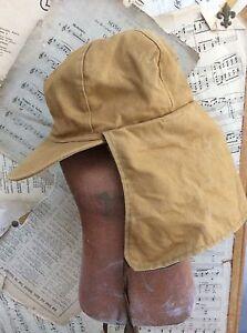 Image is loading DUXBAK-Vintage-CANVAS-TRAPPER-HUNTING-HAT-Cap-Sherlock- f157cb06fd4
