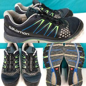 design intemporel a23fc f2b15 Mens SALOMON 'XR Crossmax' Blue-Gray-Black Running Shoes ...