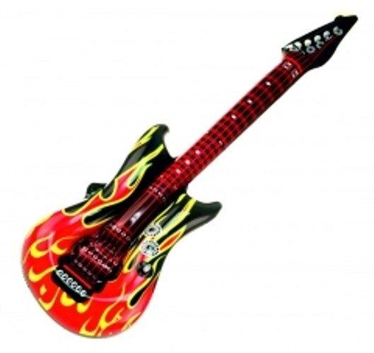 8 aufblasbare Luftgitarre Feuer Flammen Design 100 cm Party Gitarre
