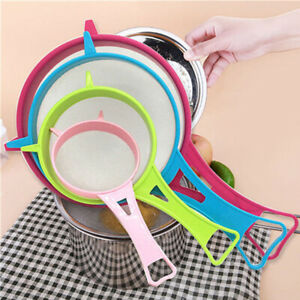 4pcs-set-Mini-Small-Plastic-Mesh-Scoop-Strainer-Food-Sieve-Kitchen-Basket-G9A