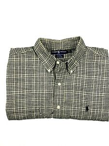 RALPH-LAUREN-BLAKE-100-Cotton-Mens-Long-Sleeve-Flannel-Shirt-Size-L-Brown-Black