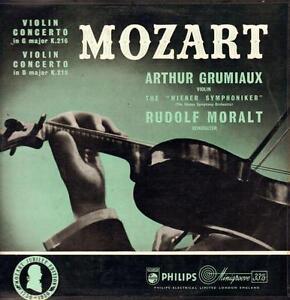 Mozart Vinyl Lp Violin Concerto Arthur Grumiaux Philips