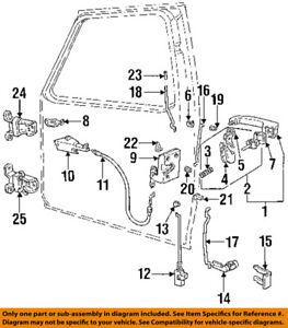 Ford Oem 87 97 F 250 Interior Manija De La Puerta Interior Izquierda E7tz1522601a Ebay