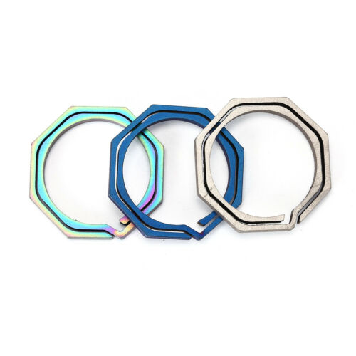 Keyring Octagon Titanium Hook outdoor clip kit Buckle Keychain edc multi tool—HQ