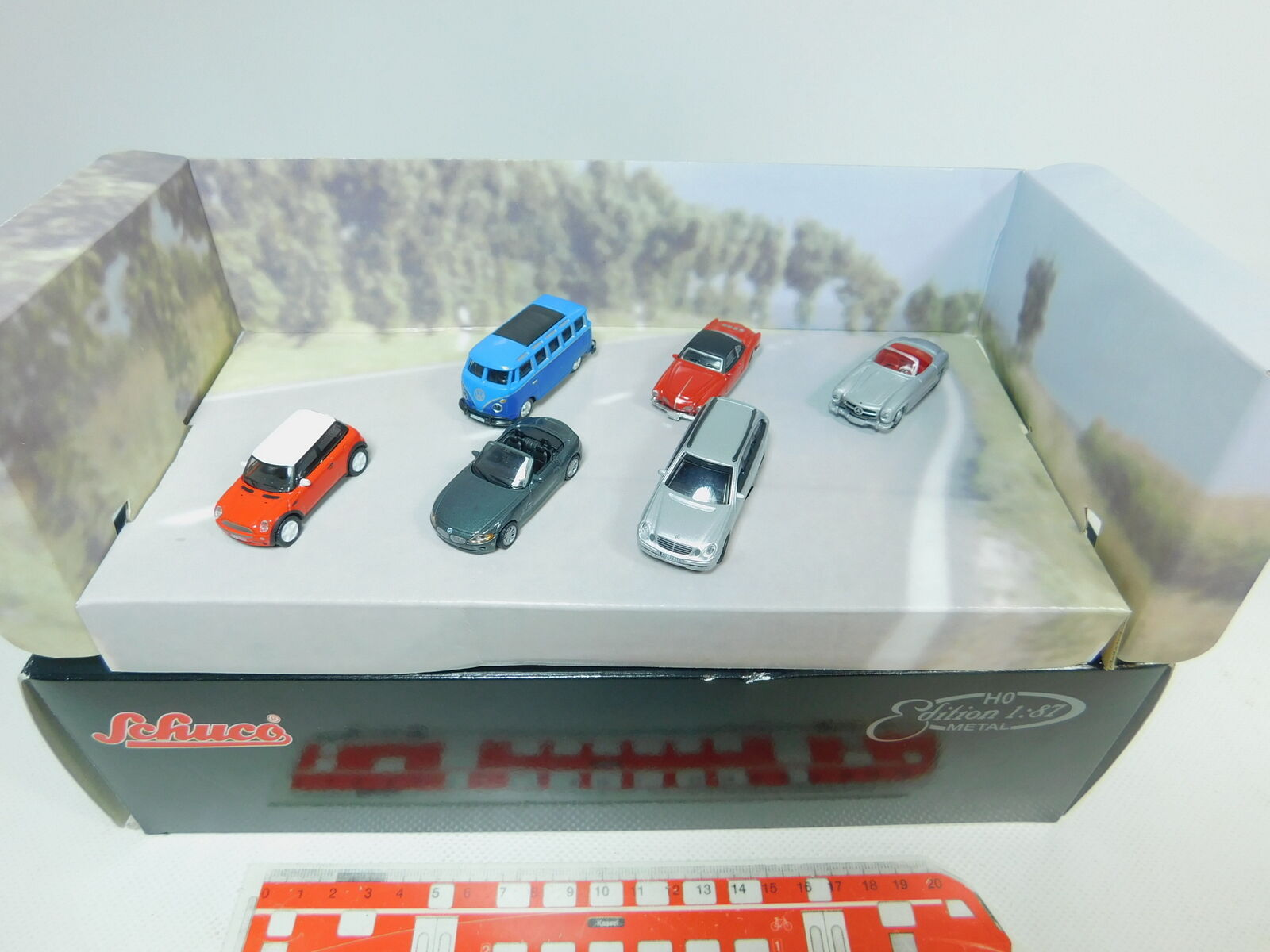 Bn2-0, 5  SCHUCO EDITION METAL h0 1 87 2315 9655 Set  BMW  MB  VW, neuf dans sa boîte
