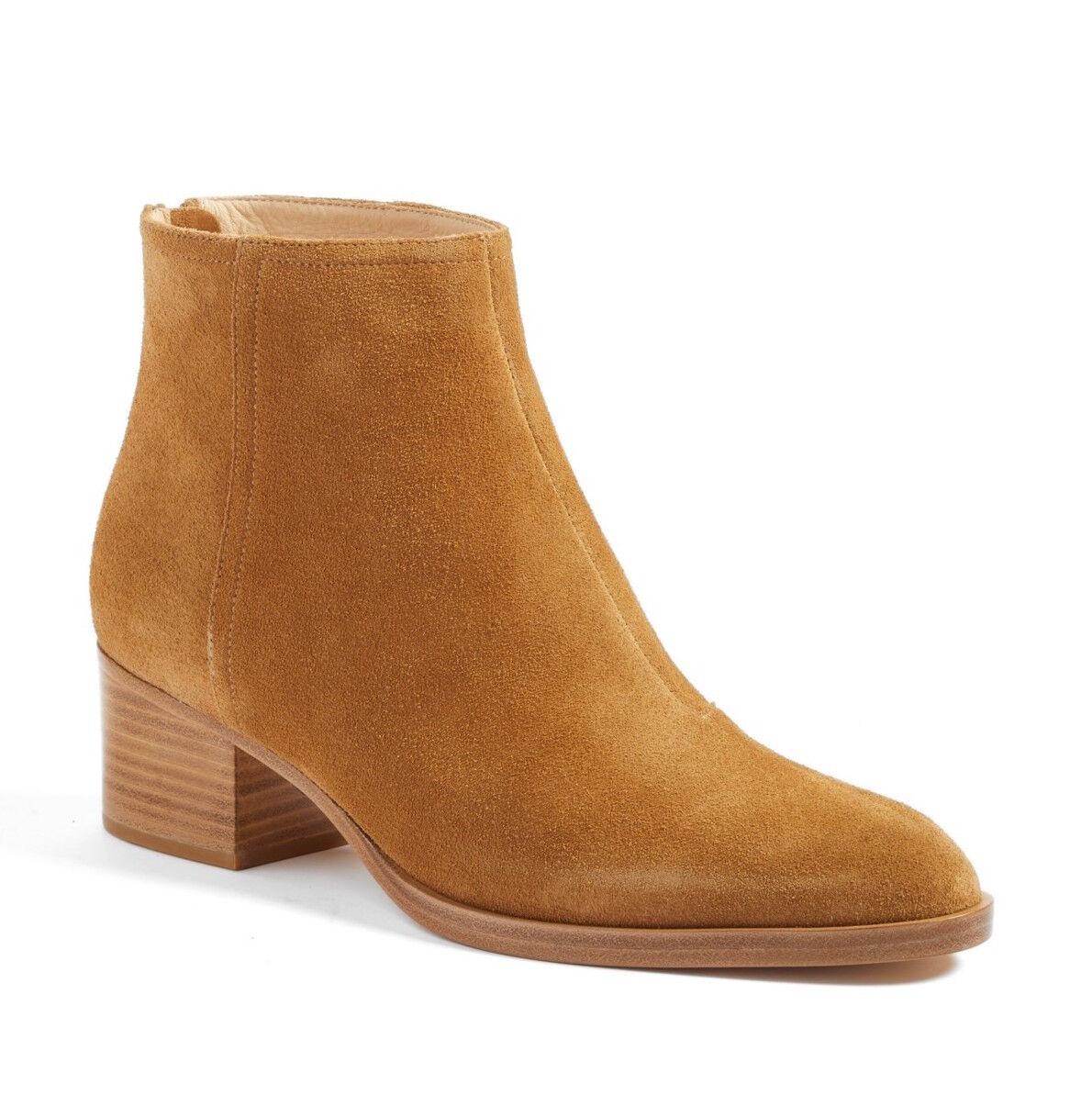 Rag & Bone WESLEY Hazel Brown Suede Ankle Boots 7 NIB