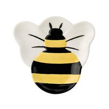 Bee Happy Creamer Yellow Bumblebees Fun Honey Slogan English Tableware Co