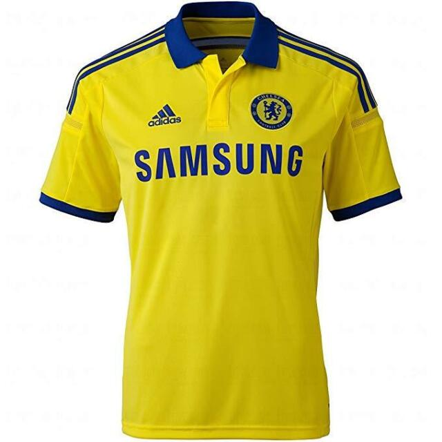 innovative design 93ab0 be2d7 Chelsea FC adidas MLS Yellow 3rd Jersey Kit Size Small