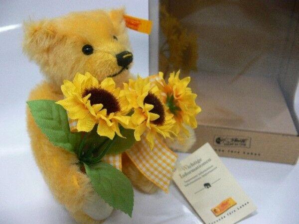 STK 16 Steiff Teddy Sommer mit Sonnenblumen ca.18cm 028182