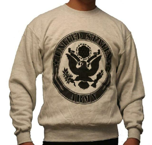 SWEAT SHIRT GRINE CHINE IMPRIME LOGO US ARMY TAILLE XL