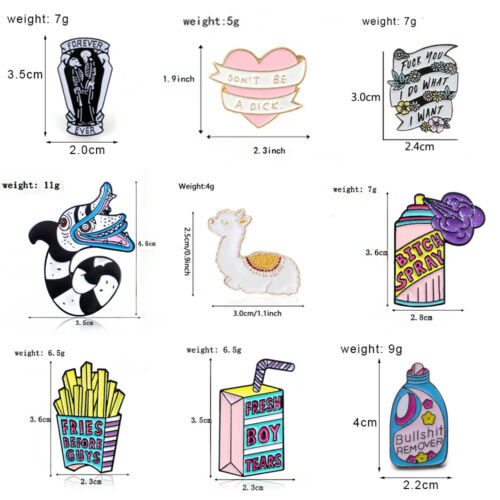 Enamel Pins Cartoon Animal Fruit Brooches Badge Jewelry Gift for Friends New