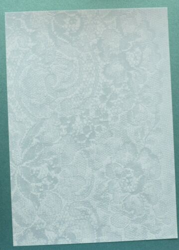 2 x A4 Sheets  Vellum 112gsm Choice of Rainbow//Lace//Blue /& Rustic Butterfly NEW