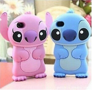 Silicone-Disney-Stitch-3D-Case-Cover-Skin-House-For-Apple-iPhone-4s-5S-TOUCH-5th