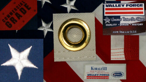 Proudly Made in the USA Valley Forge American Flag 3/'x5/' sewn Koralex II