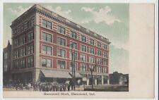 c1910 HAMMOND Indiana Ind Postcard HAMMOND BLOCK Store Crowd