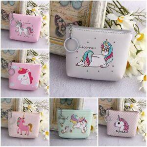 Fashion Womens Coin Purse Unicorn Mermaid Vintage Pouch Mini Purse Wallets