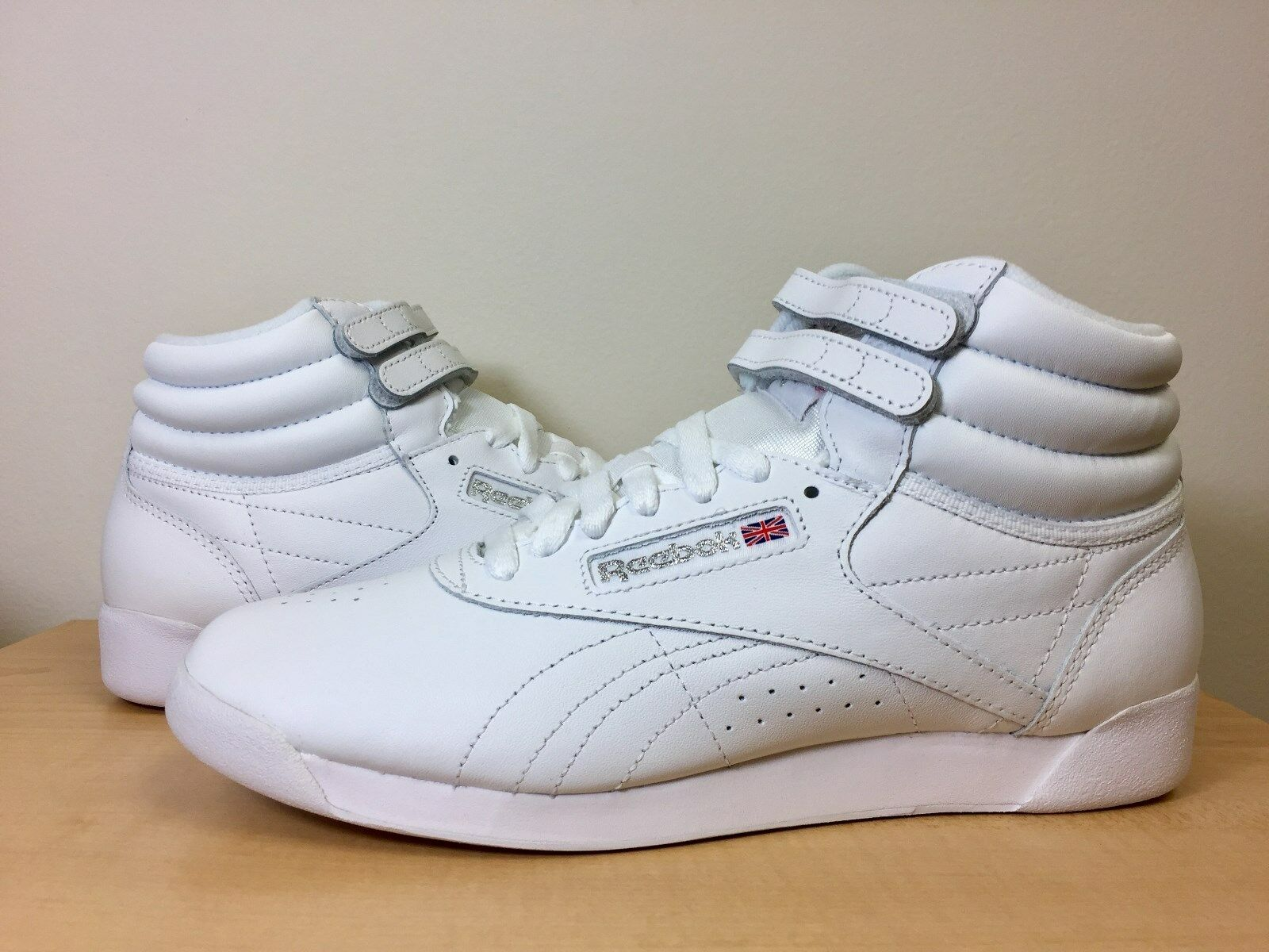 Buy Womens Classic Reebok Freestyle Hi Top Athletic Shoe Size 8 1 2 ... 9512909a81