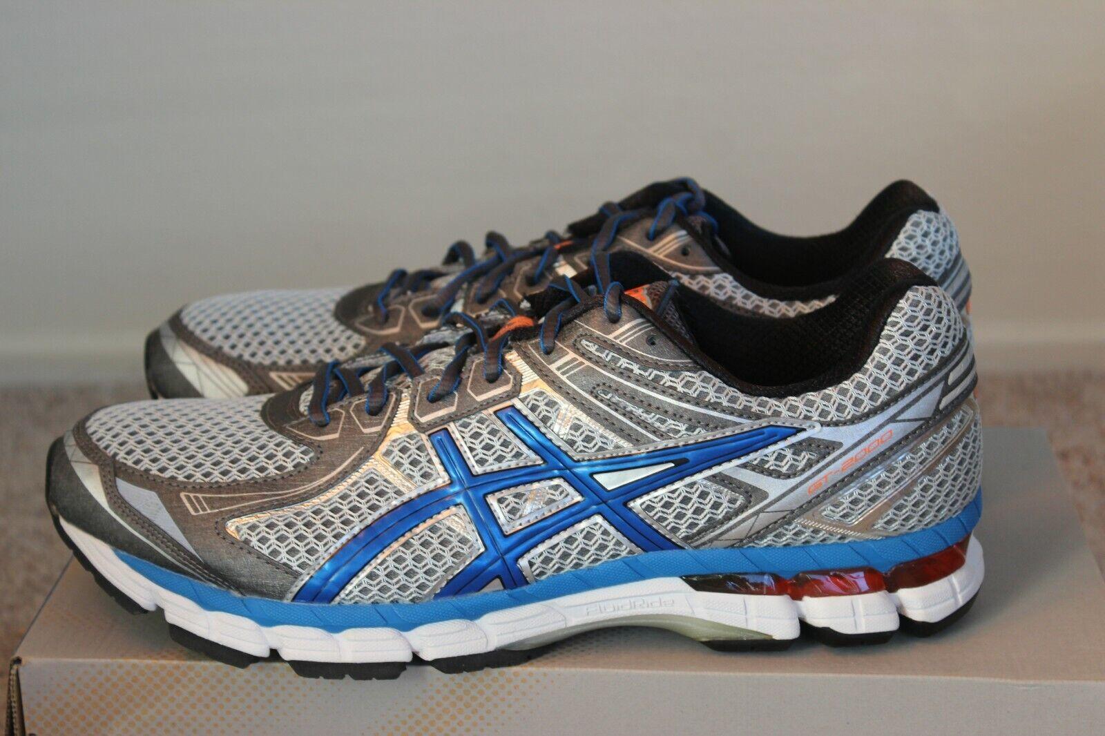 Asics GT-2000 2 (4E) para hombres Zapatos tenis de correr azul titanio