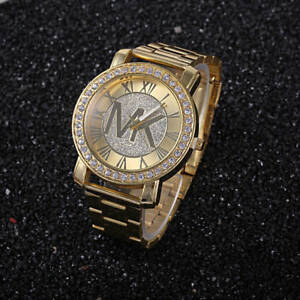 Fashion-women-men-diamond-crystal-stainless-steel-wrist-quartz-watches