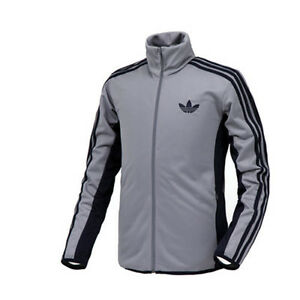 Adidas Mens Originals Street Diver Tt Jacket Grey Navy Contrast
