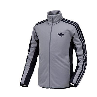 Adidas Herren Original Street Diver Tt Jacke Grau Marineblau Contrast Z38424 Seien Sie Freundlich Im Gebrauch