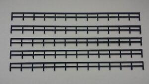 Lot-5-rambardes-cloture-1-87-HO-decor-train-diorama-compatible-Jouef-Faller